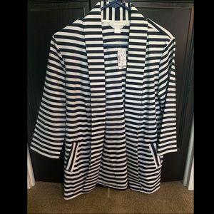Navy stripped blazer. NWT